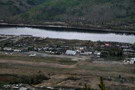 Аэропорт Бодайбо. Вид со смотровой площадки