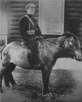 Д. Сухэ-Батор - Главнокомандующий Монгольской Народной армией. Алтан-Булак. 1921 г.