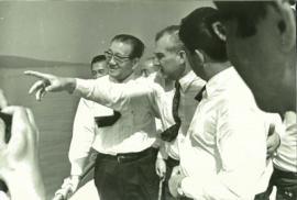 Николай Салацкий с японской делегацией на Байкале