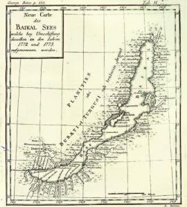 Карта Байкала И. Георги