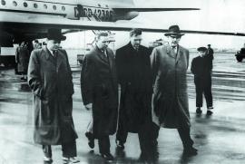 Партийная делегация в аэропорту Иркутска