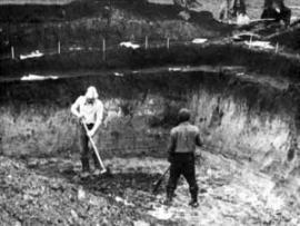 1976 год. Раскопки Кара-Тенеш на правом берегу реки Катунь
