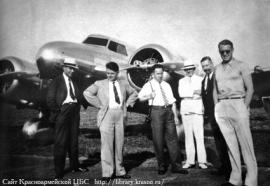С группой ведущих инженеров в служебной командировке в США. 1938