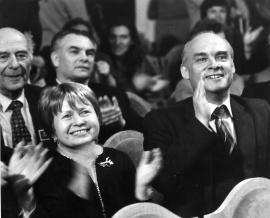 А. Пахмутова и Н. Добронравов в Братске