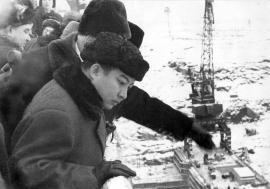 Принц Нородом Сианук на Братской ГЭС