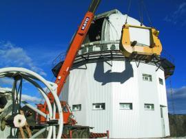 Монтаж инфракрасного азимутального звездного телескопа на Саянской солнечной обсерватории