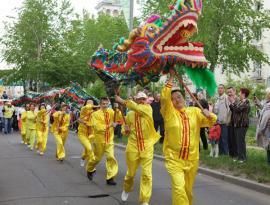 Парад в честь юбилея города