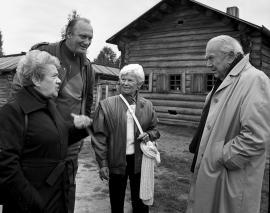 Грэм Грин (справа) в гостях у иркутян