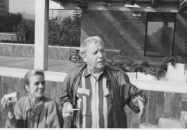 С женой Ириной Машковской Братислава. 1990.