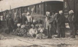 Третий стрелковый полк Чехословацкого корпуса на станции Половина. 19 ноября 1919 года