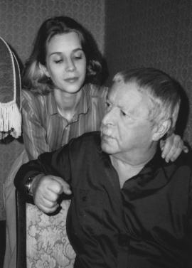 Юрий Левитанский с женой Ириной Машковской Фото О. Машковского