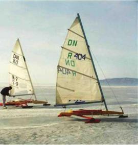 Байкальская регата на льду у Листвянки. 2000 г.