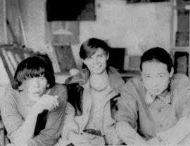 Студенты иркутского училища искусств: Игорь Смирнов, Олег Попов, Женя Монохонов. 1990 г.