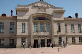 Железнодорожный вокзал города Ангарска