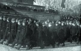 Демонстация трудящихся Иркутска