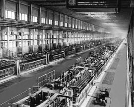 Иркутская область. Цех алюминиевого завода в Братске.
