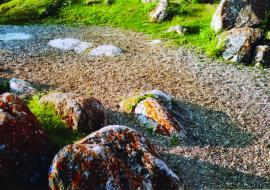 Природный «Японский» сад камней. Берег у м. Бурхан