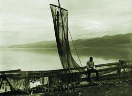 Култукский рыбак. Фото Житенева. 1923 г.