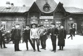 Здание станции Иннокентьевская. Фото ок. 1914