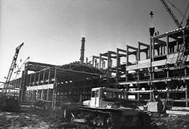 Строительство завода силикатного кирпича в Усолье-Сибирском