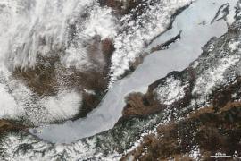 Ледяной покров Байкала. Вид из космоса