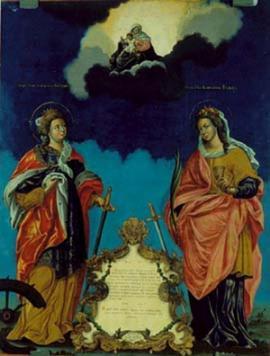 """1764 г. Икона """"Екатерина и Варвара"""". Сибирское письмо. Владимирская церковь Иркутска"""