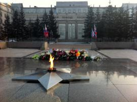 Вечный огонь в Иркутске.