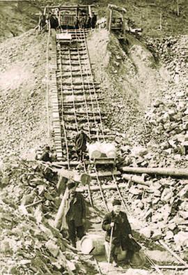 На строительстве Кругобайкальского участка Сибирской Железной дороги