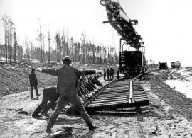 Один из этапов строительства БАМа