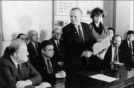 Обсуждение учредительного договора о создании Байкальского международного центра экологических исследований. 3 декабря 1990 года.