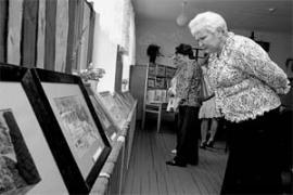 Выставка картин Александра Ульянова всегда вызывает интерес.