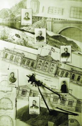 Лист из альбома «Постройка Кругобайкальской ЖД». ИОКМ