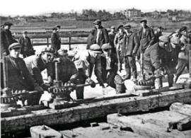 Строительство железобетонного моста им. В.И. Ленина (1932-1936)