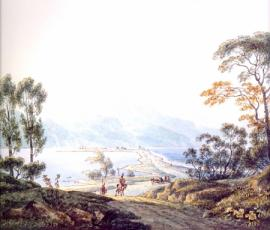 Мартынов А.Е. Вид озера Байкал, 1806-1810.