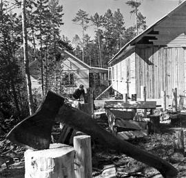 Первые дома в поселке Звездный