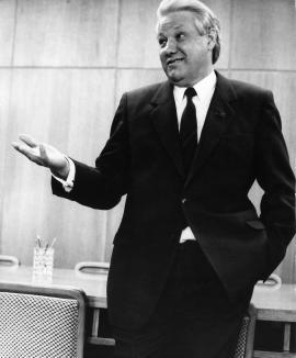 Борис Ельцин в Иркутске