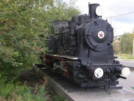 Памятник Бодайбинской железной дороге, паровоз ГР №352, Бодайбо.