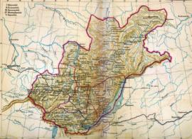 Карта Восточной Сибири. Нач. XIX в.