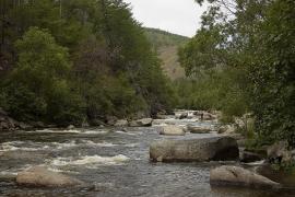Река Сарма в нижнем течении.
