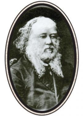 Василий Николаевич Баснин (1799 — 29.01.1876) иркутский купец первой гильдии, меценат, общественный деятель. С его именем принято связывать расцвет бильярда в Иркутске. Фото 1860-х