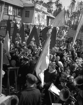 Первая первомайская демонстрация в Братске