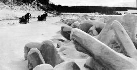 Путь к Толстому мысу, где встанет Усть-Илимская ГЭС