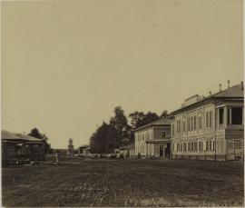 Шеламниковская улица. Дом губернатора. Общественный (интендантский) сад. Иркутск, 1880-е.