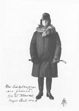 Генерал У. Грейвс в своей зимней сибирской одежде