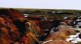 Эррозия почвы берега Байкала около села Хужир