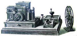 Телеграфный аппарат. Из альбома «Строительство Кругобайкальской ЖД».1905 г. ИОКМ