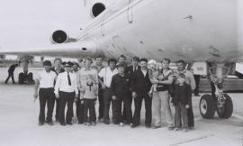 Первая посадка ТУ-154 25 августа 1988 г.