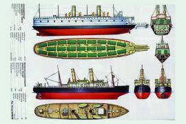 Схема-чертеж ледоколов «Байкал» и «Ангара»