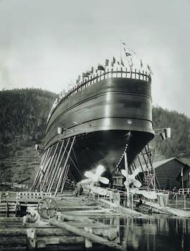 Спуск ледокола «Байкал» на воду