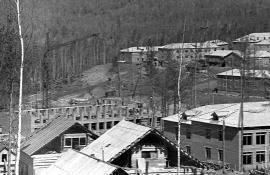 Строящийся поселок Усть-Илимск. 1967